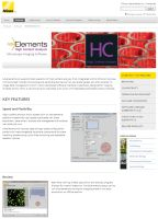 Nikon NIS-Elements High Content Analysis Imaging Software